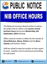 Public Notice NIB Office Hours