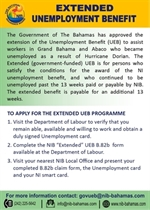 Extended Unemployment Benefit to Assist Displaced Workers in Grand Bahama and Abaco