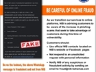Be Careful of Online Fraud