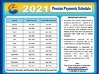 Pension Payment Schedule 2021